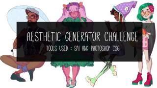Aesthetic Generator Challenge - Speed Paint