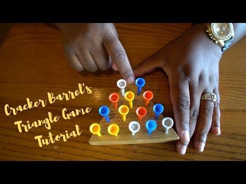 Cracker Barrel's Triangle Peg Game Tutorial 2019 thumbnail