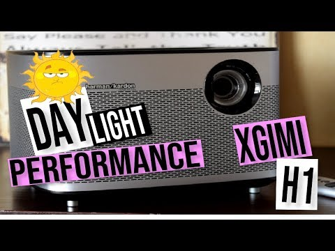 XGIMI H1 ANDROID SMART LED PROJECTOR DAYLIGHT TEST: FULL 1080P DLP 3D PROJECTOR