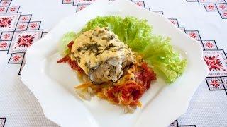 Хек в духовке с овощами просто и очень вкусно Хек рецепты Блюда из хека Хек в духовці з овочами