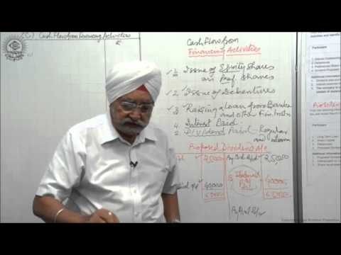 Calculation of Cash Flow from Financing Activities Cl XII AC by Dr  Balbir Singh