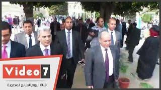 جابر نصار يفتتح أعمال تطوير كلية الحقوق
