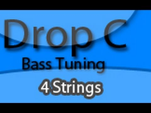 drop c bass tuning lesson four string youtube. Black Bedroom Furniture Sets. Home Design Ideas