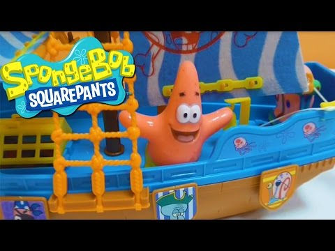 Little Kelly - Toys & Play Doh : SPONGEBOB PIRATE SHIP! (Spongebob, Pirates)