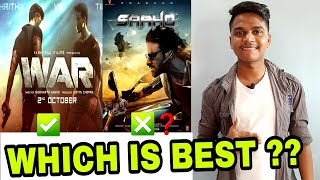 War Teaser VS Saaho teaser public review by Suraj Kumar | Comparison |