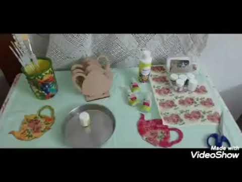 Decoupage coasters DIY