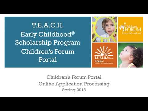 T.E.A.C.H. Early Childhood® Scholarship - Florida: Learn how to apply (English)