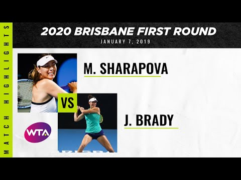 Maria Sharapova Vs. Jennifer Brady   2020 Brisbane International First Round   WTA Highlights