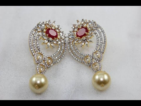 Awesome Ruby Emarald Whitestone Stud Earrings Gemstone Online