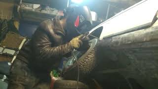 Проект Булочка  Подвариваем кузов ваз 2106 ЭЛЕКТРОДАМИ