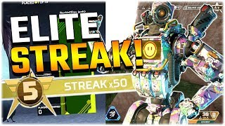I went on a 50 streak on Apex Elite.. (Apex Legends PS4)