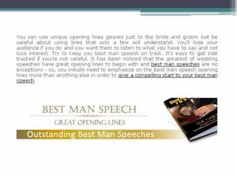 Best Man Speech Opening Lines