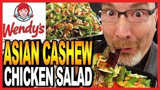 Wendy's Asian Cashew Chicken Salad Review And Drive Thru Test