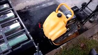 Patching yomg'ir. Infraqizil isitish asfalt.