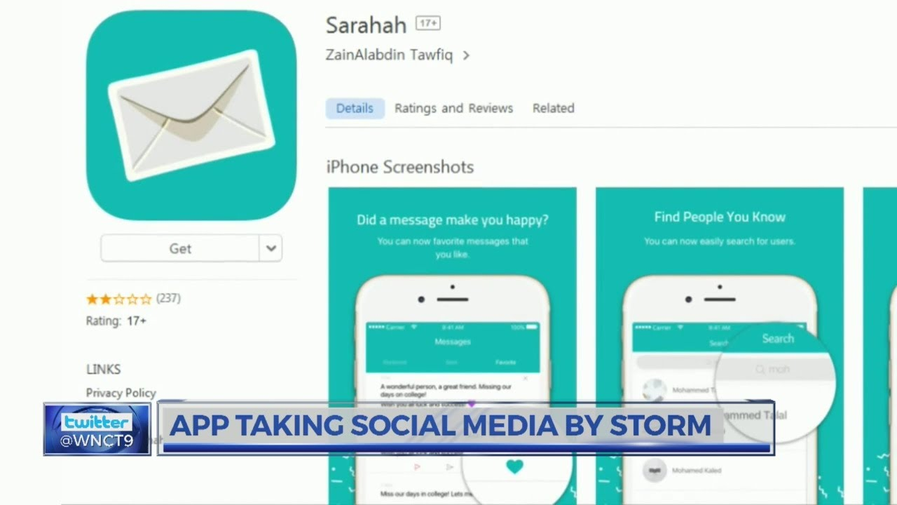 New 'Sarahah' app allows users to leave anonymous messages
