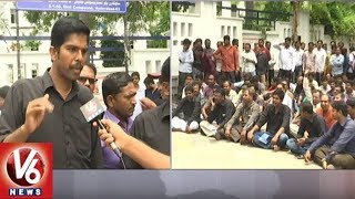 Electricity Contract Employees Begins Strike In All Over Telangana State | V6 News