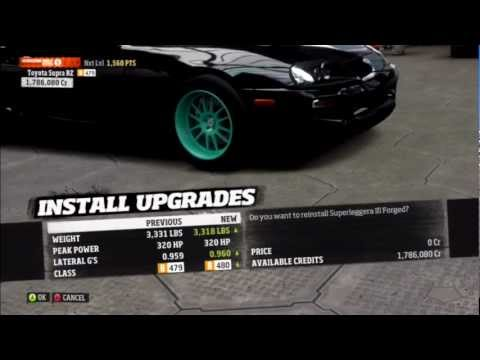 Forza Horizon Toyota Supra Drift Car Build W Commentary Youtube
