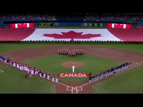CLE@TOR: Blue Jays Celebrate Canada Day