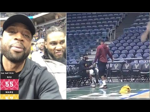 Dwyane Wade is emotional before last game in Milwaukee, but Tristan Thompson can