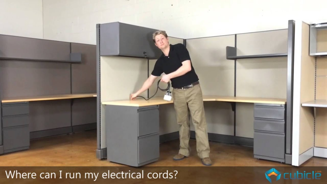 maxresdefault how to run electrical cords in your cubicle youtube cubicle whip wiring diagram at edmiracle.co