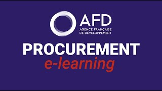 For development projects to deliver results as soon possible the populations, afd has developed an e-learning dedicated procurement of contracts...