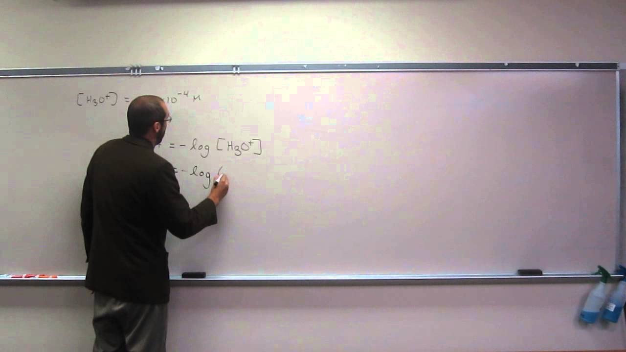 What is the pH of an aqueous solution with [H3O+] = 4×10