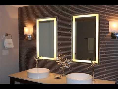 Beau مرآة الحمام المضاءة //Miroir Mural De Salle De Bain éclairé//Lighted  Bathroom Wall Mirror