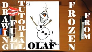 How To Draw Easy Stuff But Cool On Paper:draw Olaf From Frozen Fever Step By Step Easy Disney,full