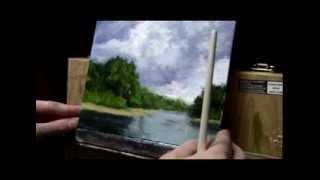 Acrylic Painting Lesson 08 - Clouds and Water Scene