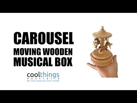 Carousel Wooden Musical Box