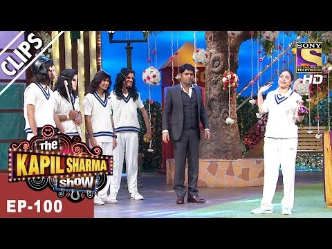 Indian Woman Cricketer Jhulanbowls to Sarla - The Kapil Sharma Show -Ep-100 - 23rd Apr, 2017