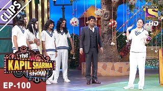 Indian Woman Cricketer Jhulan  bowls to Sarla - The Kapil Sharma Show -Ep-100 - 23rd Apr, 2017