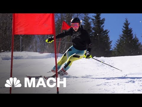 An Immersive Ski Simulator That Lets Olympic Skiers Train In Virtual Reality   Mach   NBC News