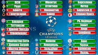 Футбол УЕФА Лига Чемпионов 19 20 Группа A B C D 6 тур Все команды Плей Офф Результаты Таблица