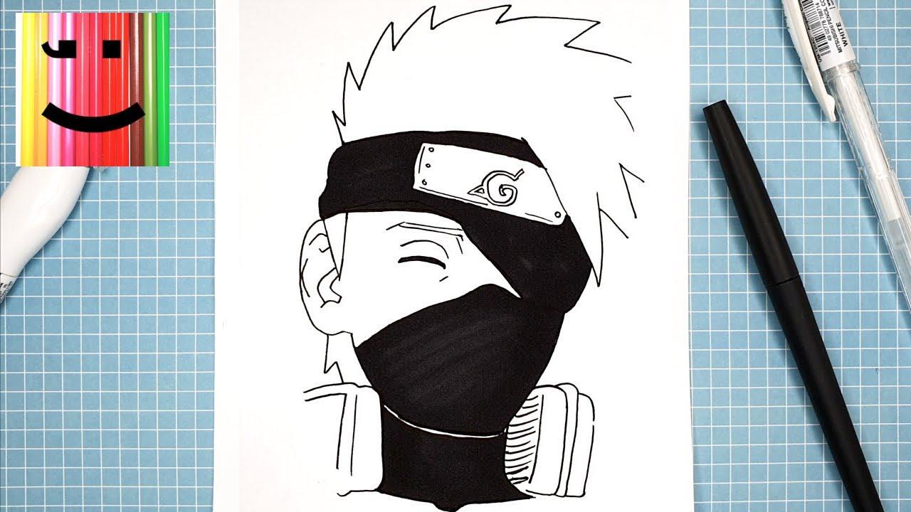 Dessin Facile A Reproduire De Kakashi Manga Naruto Shippuden Et Boruto Tutoriel Etape Par Etape Youtube