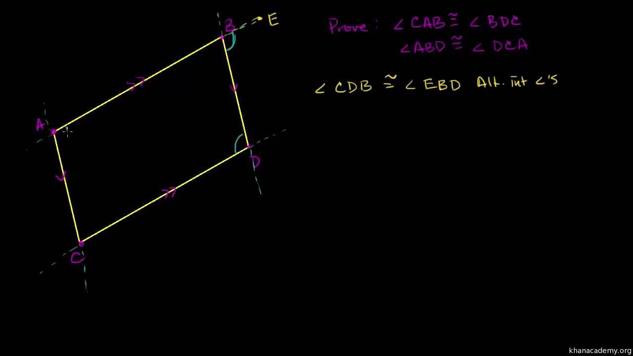 Bevis - modstående sider i et parallelogram er kongruente