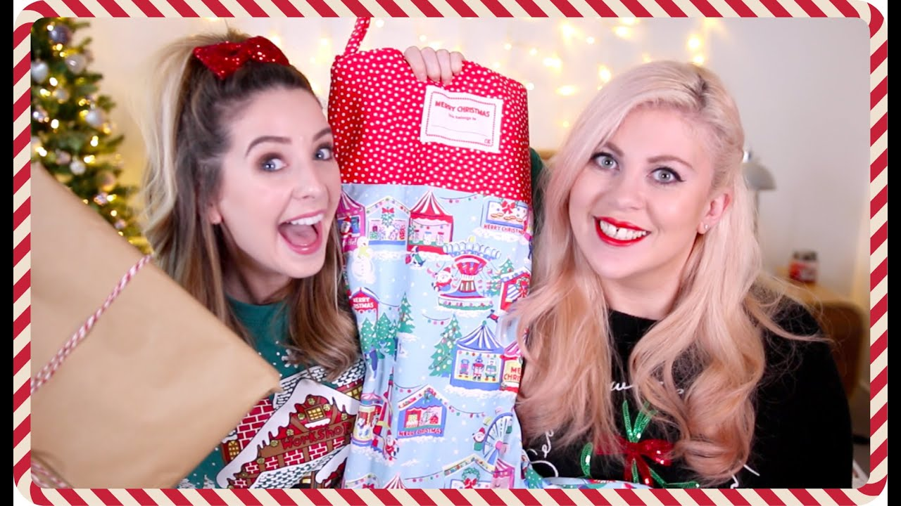 Christmas gift giving with louise zoella youtube negle Images