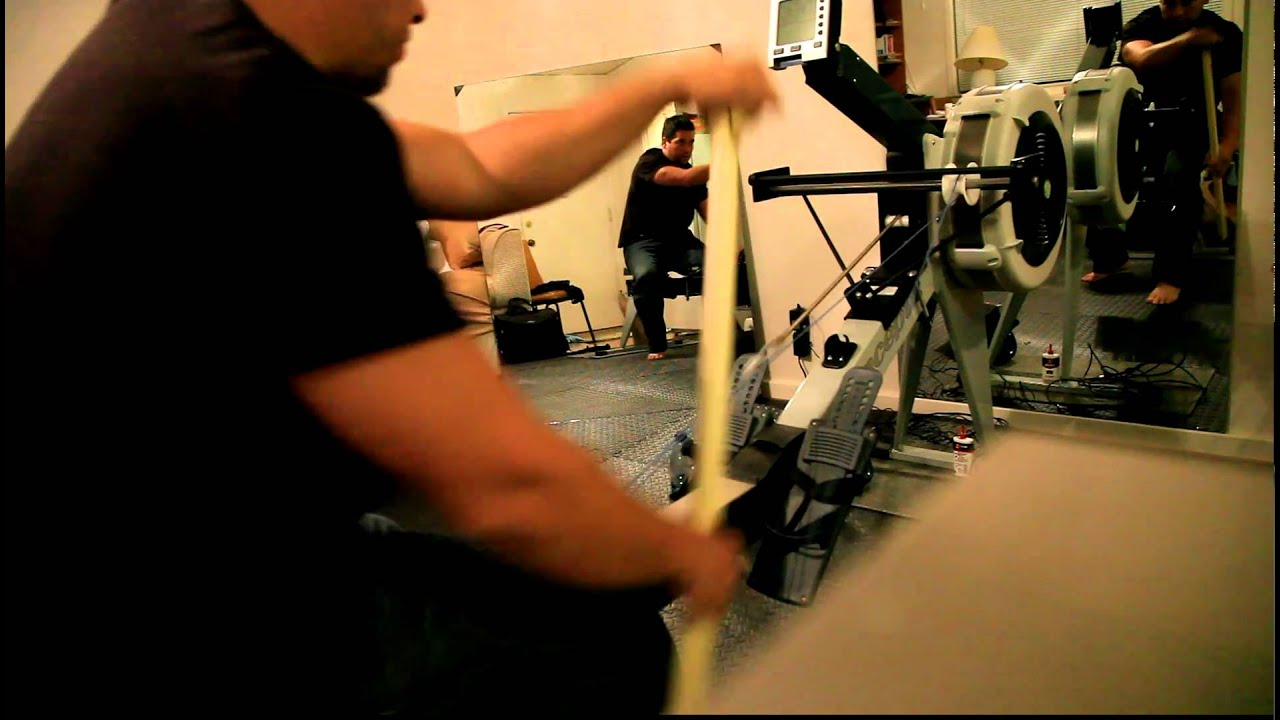 Concept 2 Model E >> Concept 2 Rower (Model E) with Vermont Waterways Paddle Adapter 10/2010 - YouTube