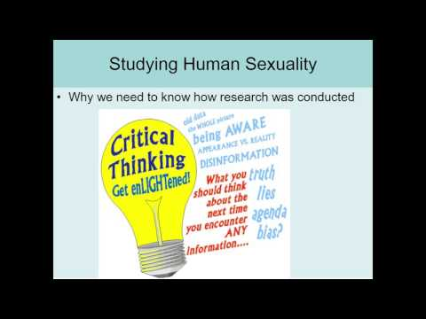 Human Sexuality Ch 1 Methodology