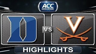 Duke vs Virginia | 2014 ACC Men