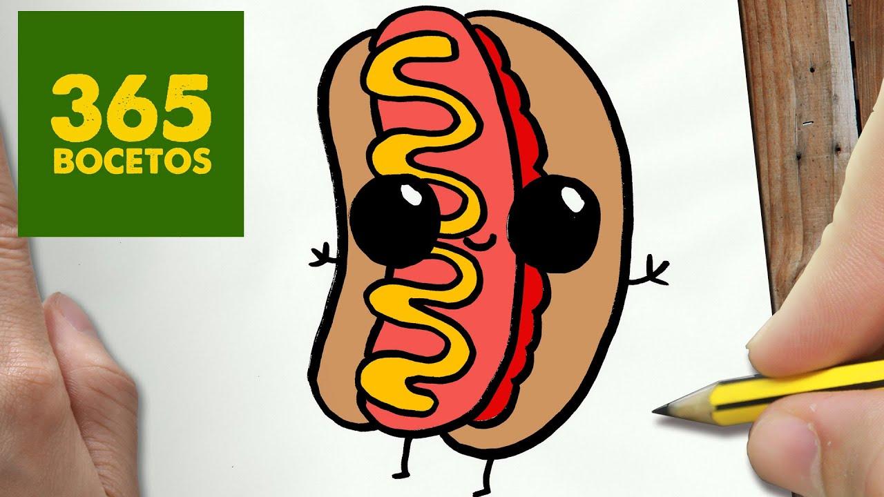 Como Dibujar Hotdog Kawaii Paso A Paso Dibujos Kawaii Faciles