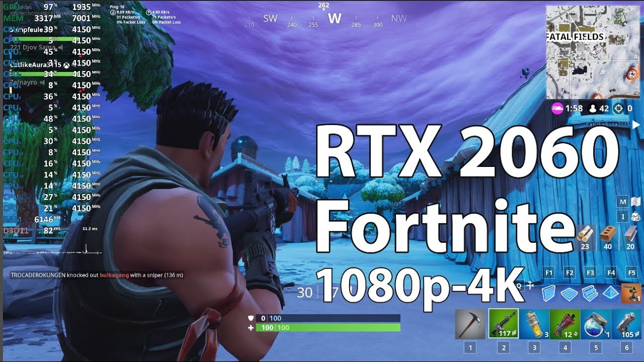 Fortnite (Season 7) on Geforce RTX 2060: How Much FPS Will You Get At  High-Epic Graphics