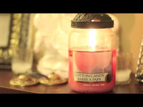 Yankee Candle Cotton Candy Large Jar Review - YouTube