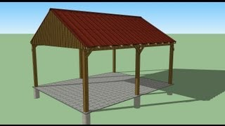 16x20 Carport Design - Shed Plans - Stout Shedsllc