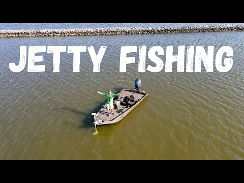 Galveston JETTY Fishing In The Aluminum Boat!! + Catch And Cook!