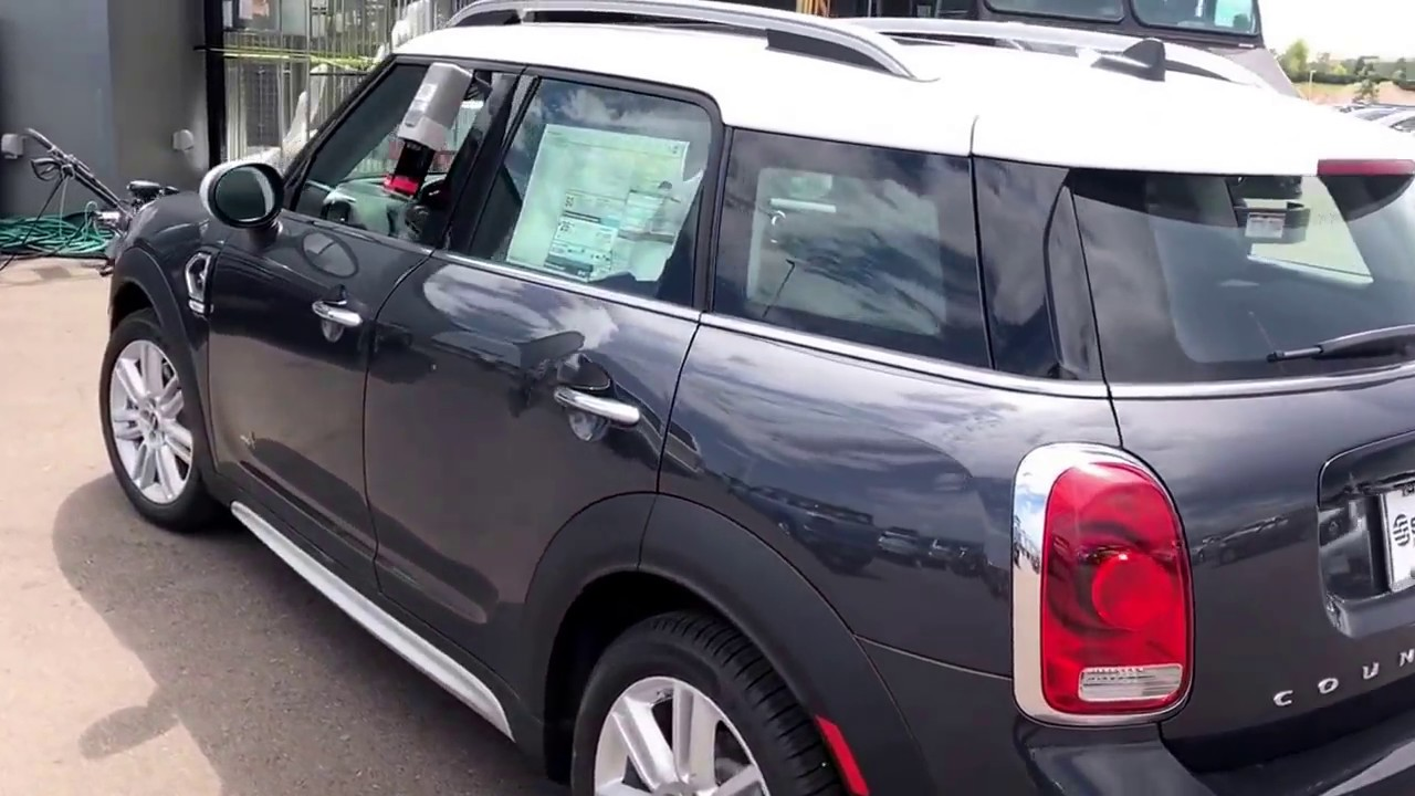 Countryman S All4 Thunder Grey On White Roof For Lon Youtube