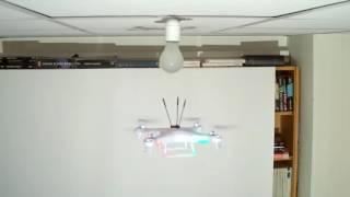 Как поменять лампочку при помощи квадрокоптера
