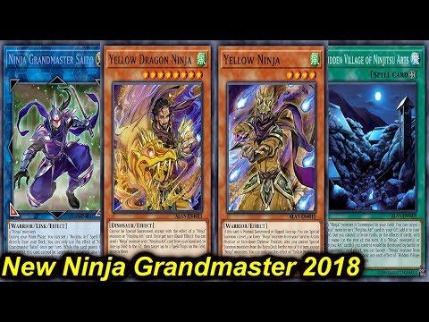 ygopro new ninja grandmaster deck 2018 youtube