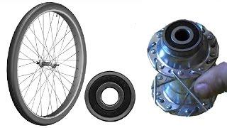 Задняя втулка колеса на промышленных промподшипниках для велосипеда, дешевая.(Мой ВК https://vk.com/id263241899 Полезные видео с моего канала, о ремонте велосипеда. 1) Задняя втулка колеса обслуживан..., 2015-09-01T14:00:01.000Z)