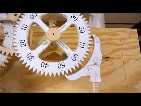 Genesis Wood Gear Clock - Up and Running!